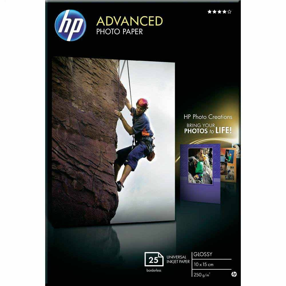 HP Advanced Glossy Photo Paper 250gsm 10x15cm 25 pack