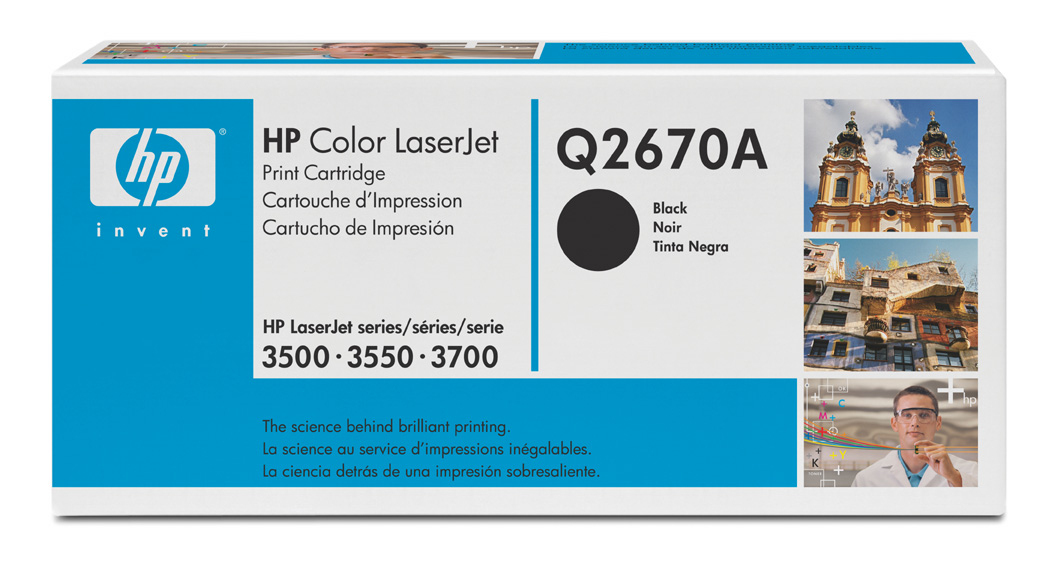 HP Q2670A black toner ORIGINAL - HP 308A Black Toner