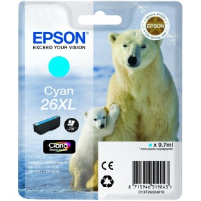Epson 26XL T2632 high-cap cyan ink cartridge original