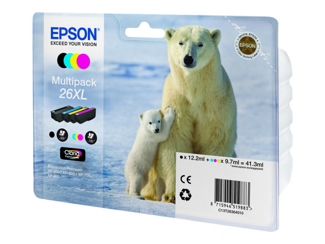 Epson 26XL T2636 high-cap multipack original