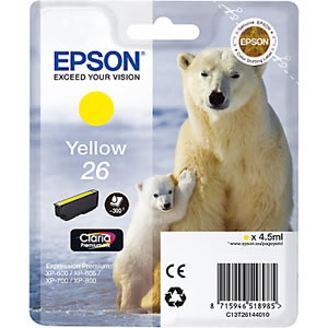 Epson 26 yellow ink cartridge ORIGINAL - Epson T2614 Original