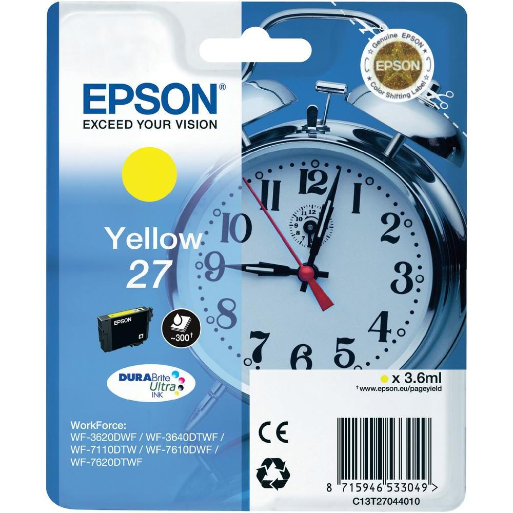 Epson 27 T2704 yellow ink cartridge original