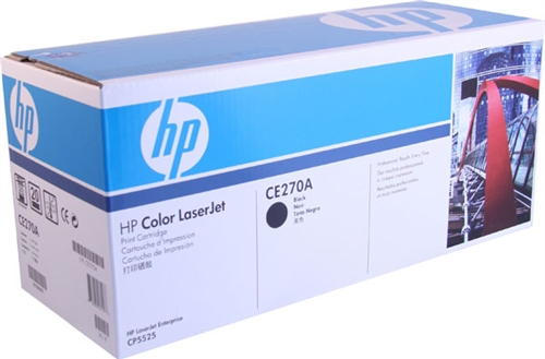 HP CE270A black toner ORIGINAL