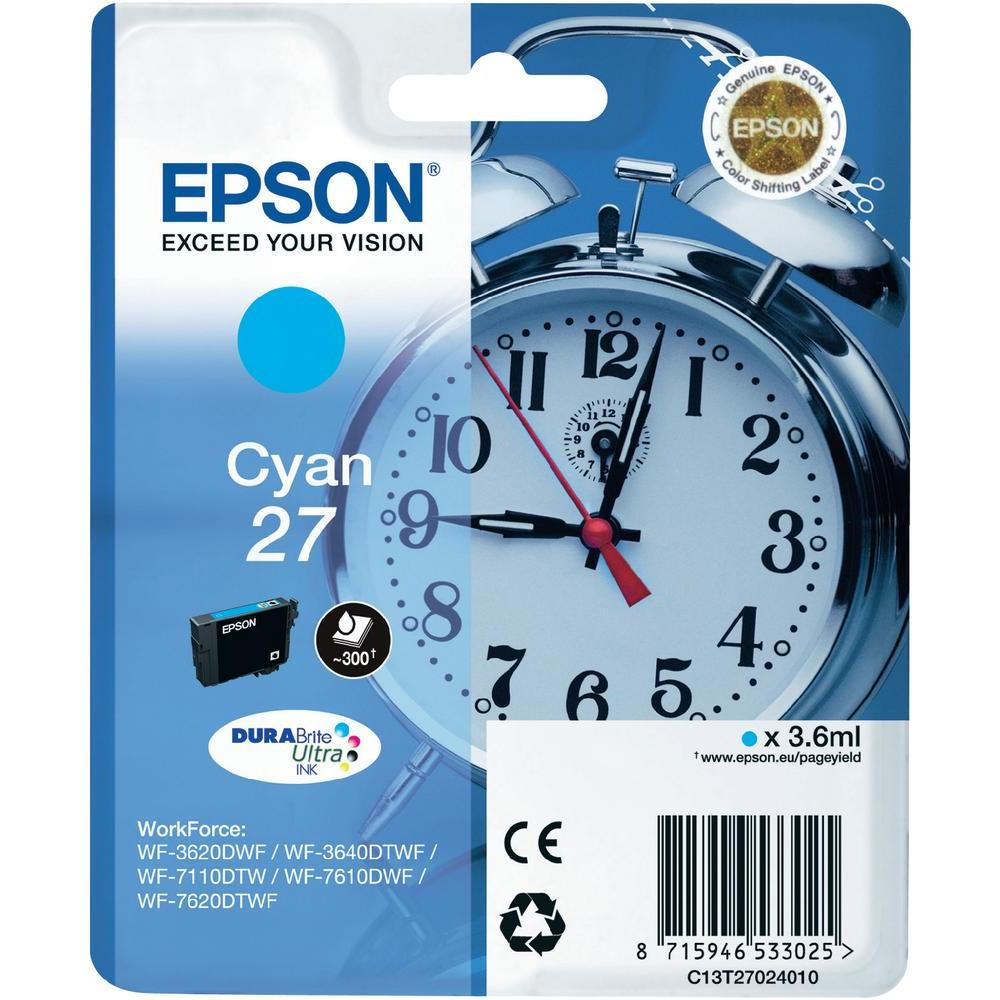 Epson 27 T2702 cyan ink cartridge original