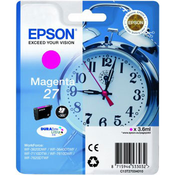 Epson 27 T2703 magenta ink cartridge original