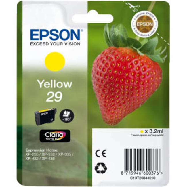 Epson 29 T2984 yellow ink cartridge original Epson