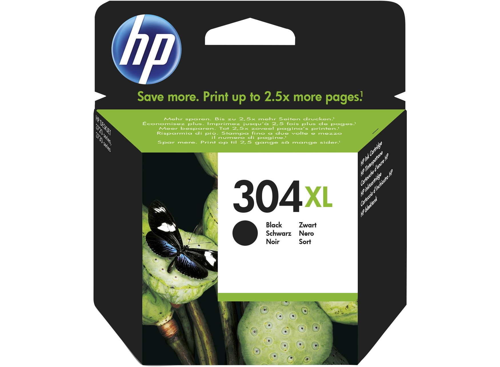 HP 304Xl black high-cap ink cartridge original