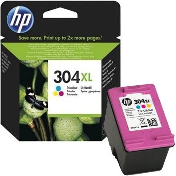 HP 304XL colour high-cap ink cartridge original