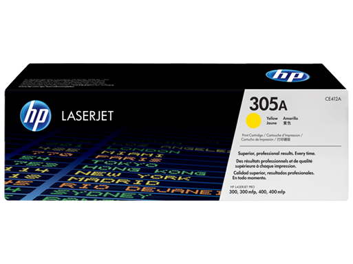 Hp 305A Yellow Toner - Hp CE412A Yellow Toner Original