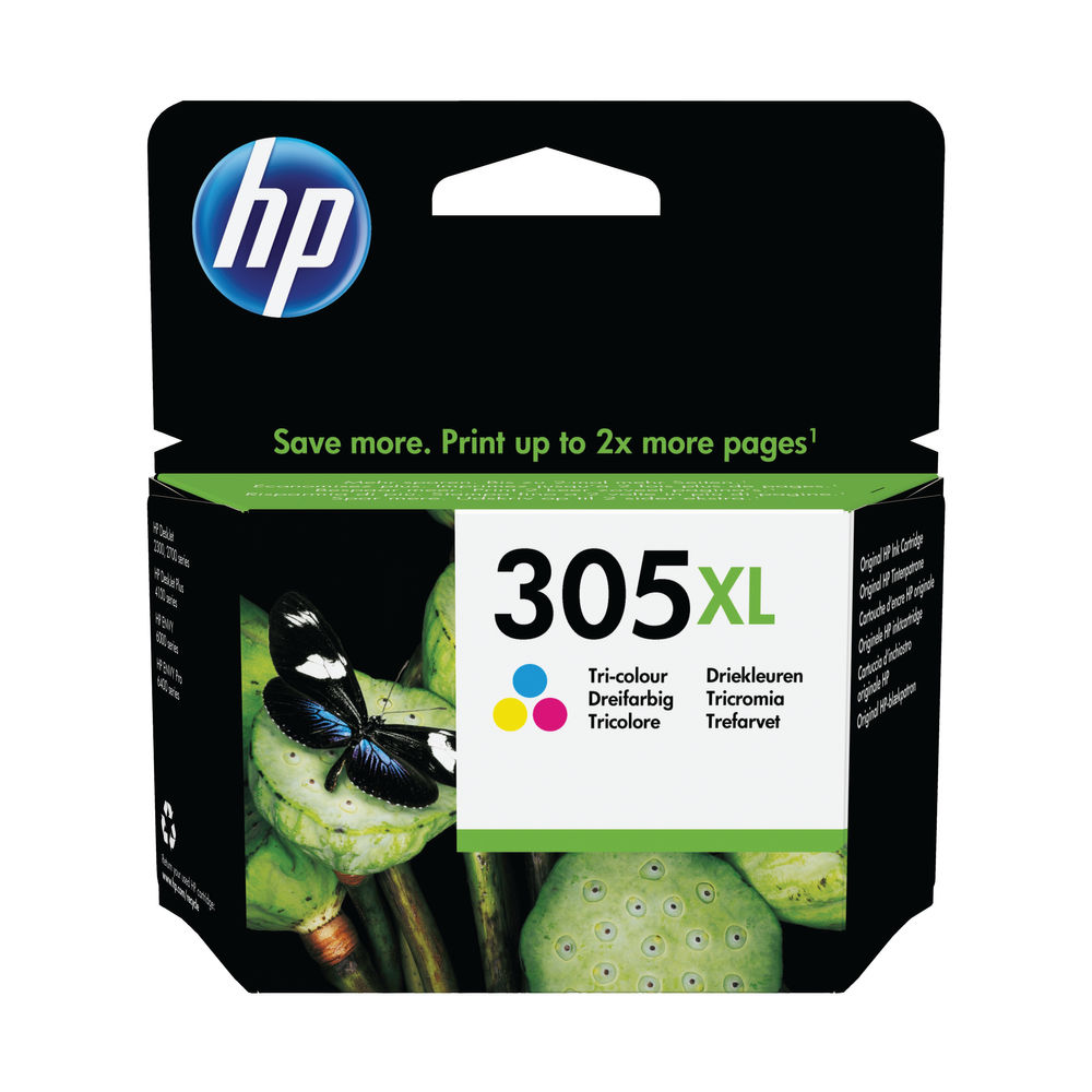 HP 305XL High Yield Original Ink Cartridge Tri Colour 3YM63AE