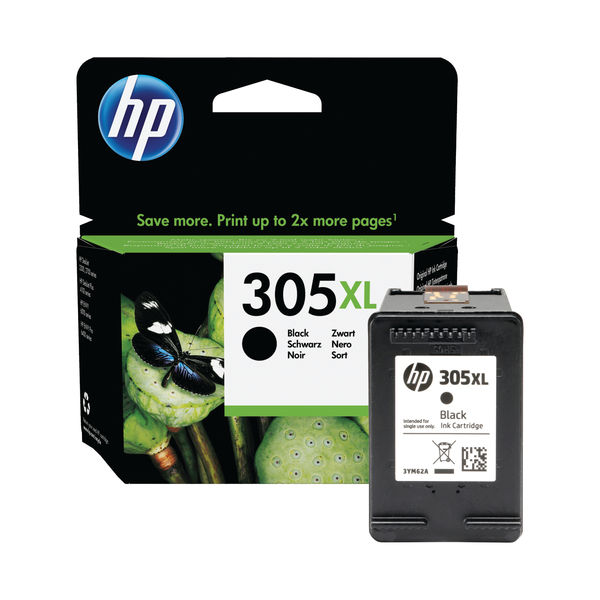 HP 305XL High Yield Original Ink Cartridge Black 3YM62AE