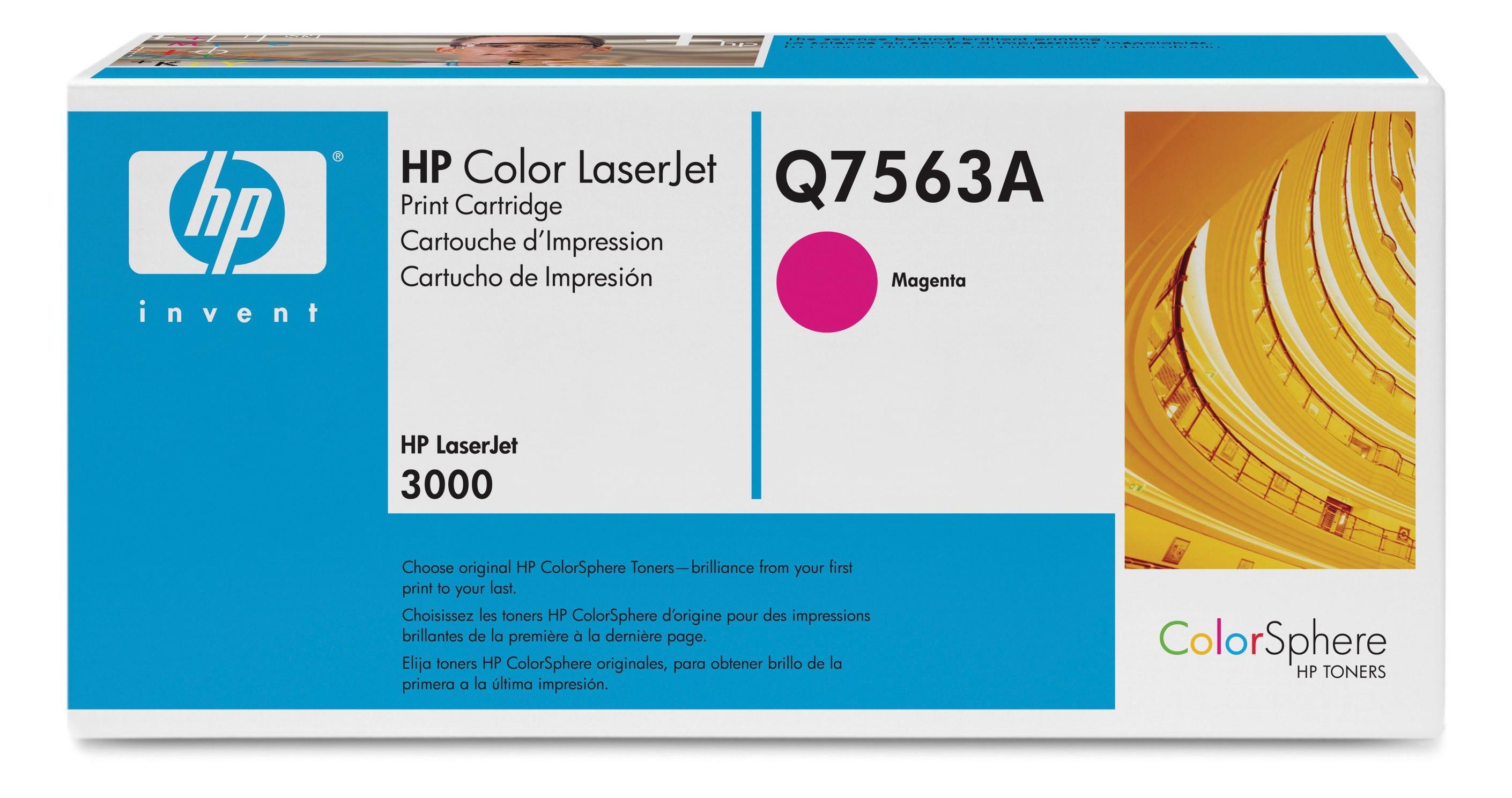 HP Q7563A magenta toner ORIGINAL - HP 314A Magenta Toner