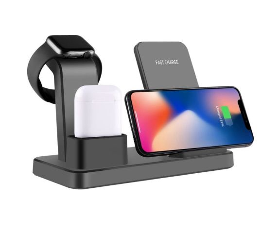 3 in 1 Wireless Charging Stand  Smartphone Watch Airpods