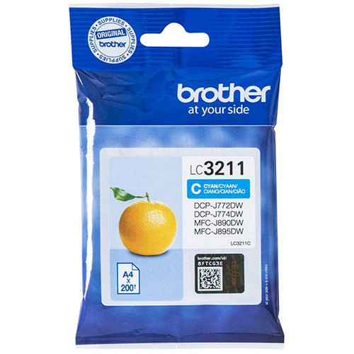 Brother LC-3211C cyan ink cartridge original