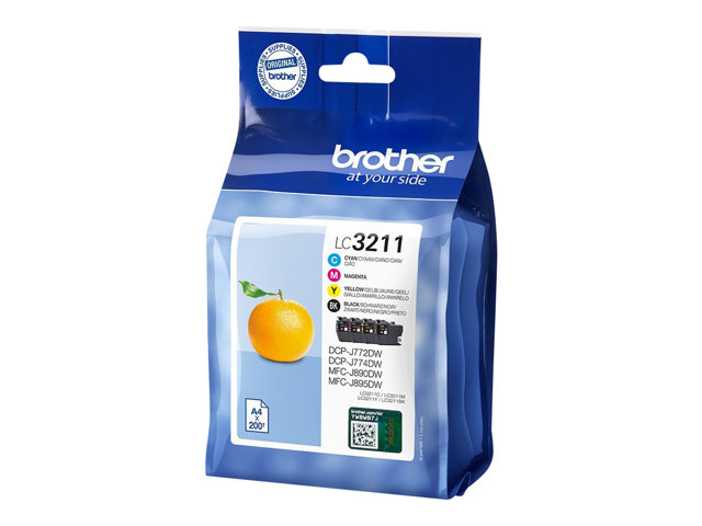 Brother LC3211 CMYK Ink Cartridge Value Pack