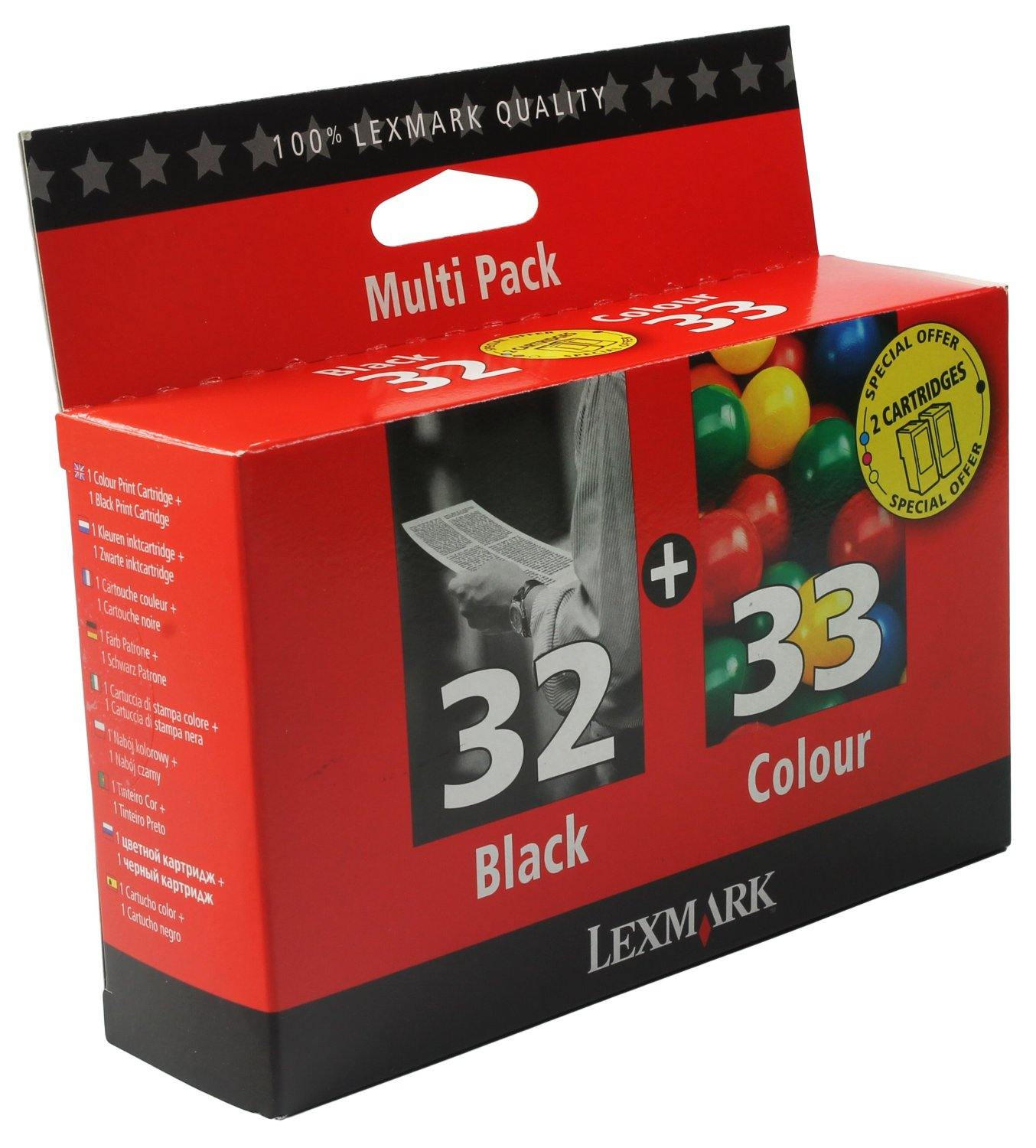 Lexmark 32 And Lexmark 33 Black and Colour Print Cartridge
