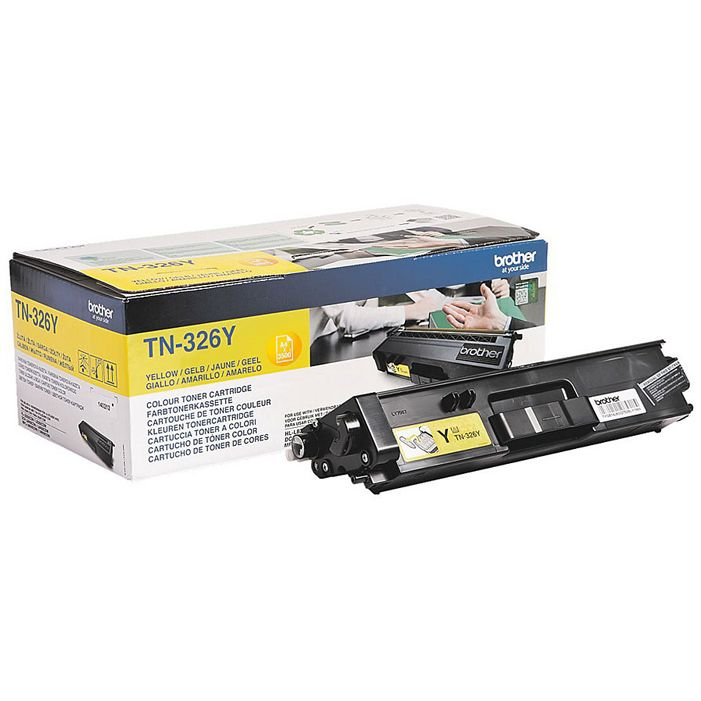 Brother TN326Y yellow toner original High Cap