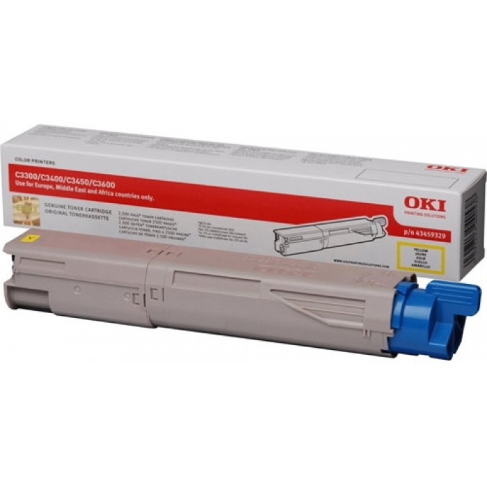 OKI 43459329 high-capacity yellow toner original