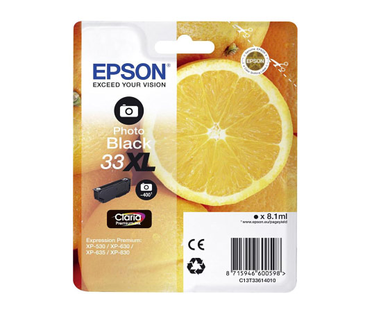 Epson 33XL T3361 photo black high-cap ink cartridge original Epson