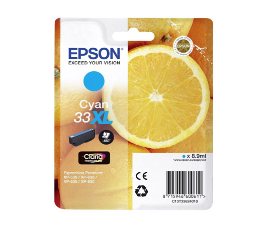 Epson 33XL T3362 cyan high-cap ink cartridge original Epson