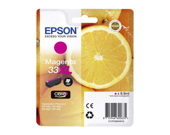 Epson 33XL T3363 magenta high-cap ink cartridge original Epson