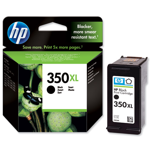 HP 350XL Black Ink Cartridge Original