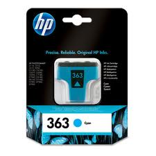 Hp 363 Cyan Ink Cartridge Original