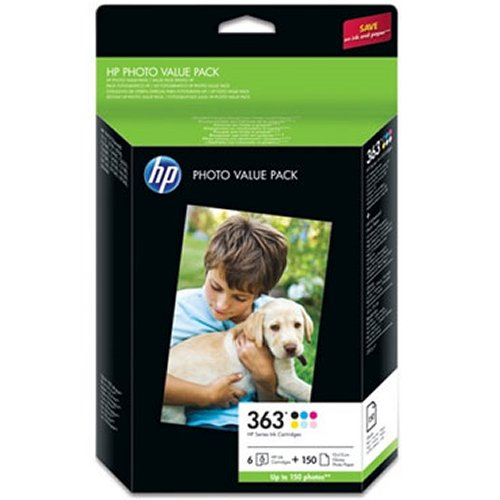 HP 363 series photo pack original 6 Inks Plus Photo Paper