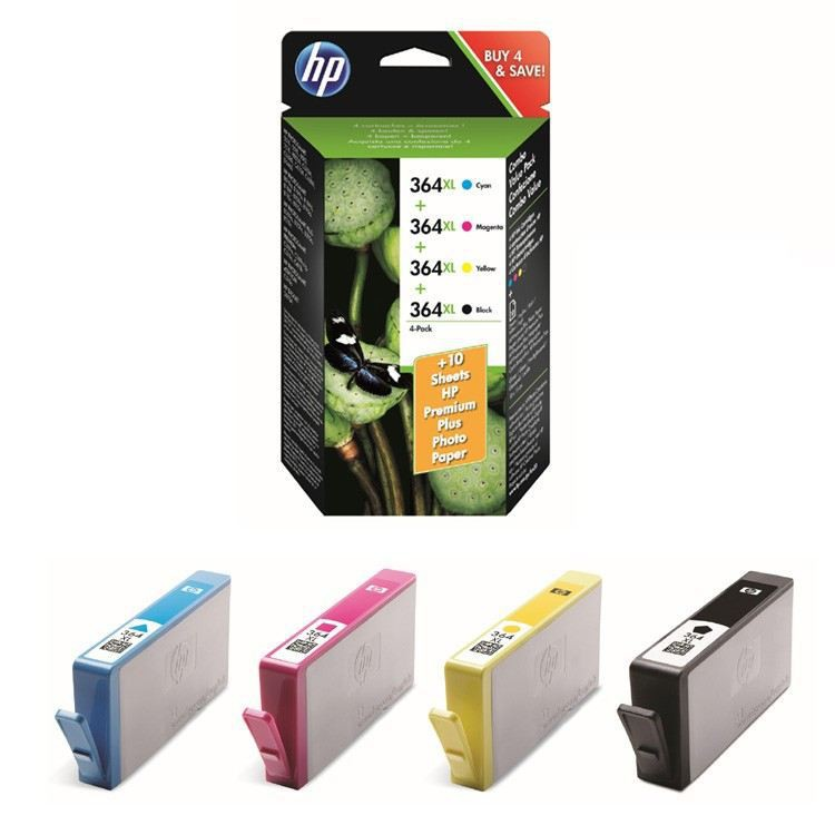 Hp 364XL Black Cyan Magenta Yellow 4 Pack XL Original