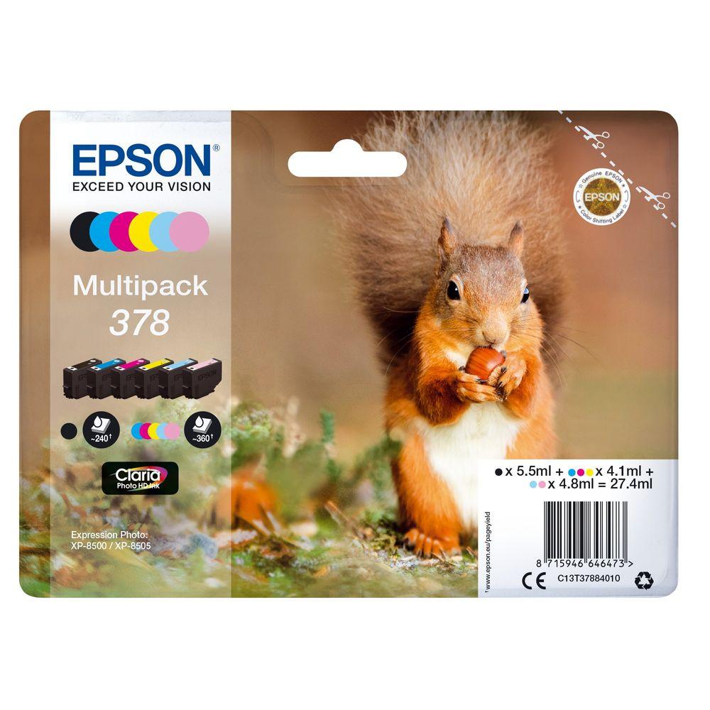 Epson 378 Photo HD Inkjet Cartridge Pack of 6