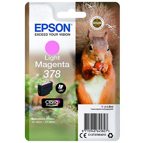 Epson 378 light magenta ink cartridge original