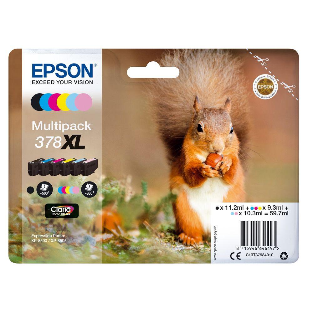 Epson 378XL Photo HD Inkjet Cartridge Pack of 6
