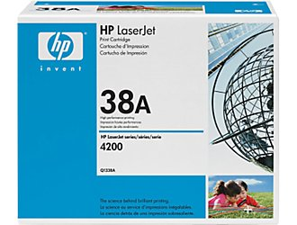 HP Q1338A black toner ORIGINAL - HP 38A Black Toner Original