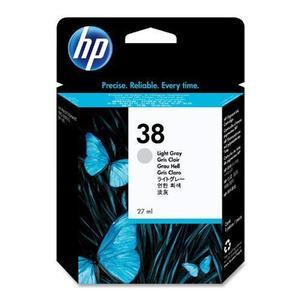 Hp 38 Light Grey Ink Cartridge Original - HP C414A L Grey