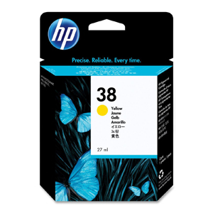 Hp 38 Yellow Ink Cartridge Original - Hp C4197A Yellow