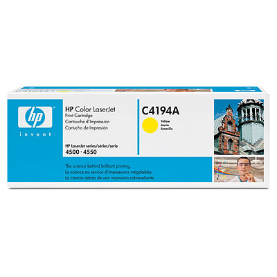 HP C4194A Original Yellow Toner - HP c4194 Yellow Toner Original