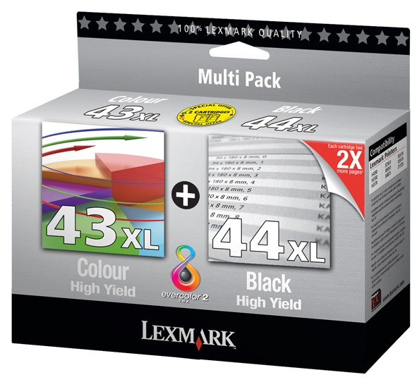 Lexmark 43xl and Lexmark 44xl Inkjet High Cap