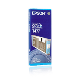 Epson T477 C13T477011 cyan ink cartridge original
