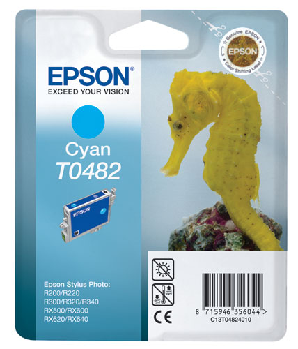 Epson T0482 cyan ink cartridge original