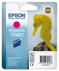 Epson T0483 magenta ink cartridge original