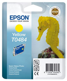 Epson T0484 yellow ink cartridge original