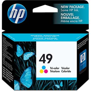 HP 49 Tri-Colour Ink Cartridge 22ml Large Original