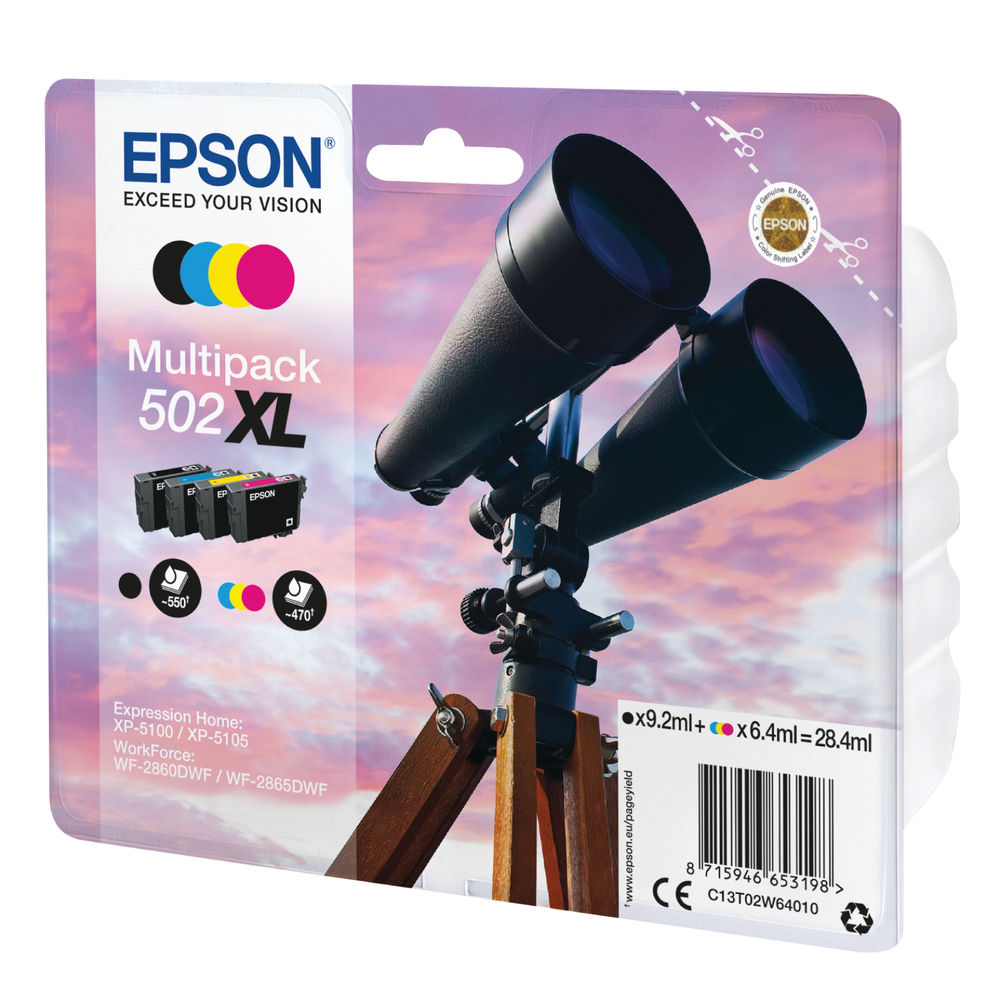 Epson Multipack 502XL Ink 4-colours