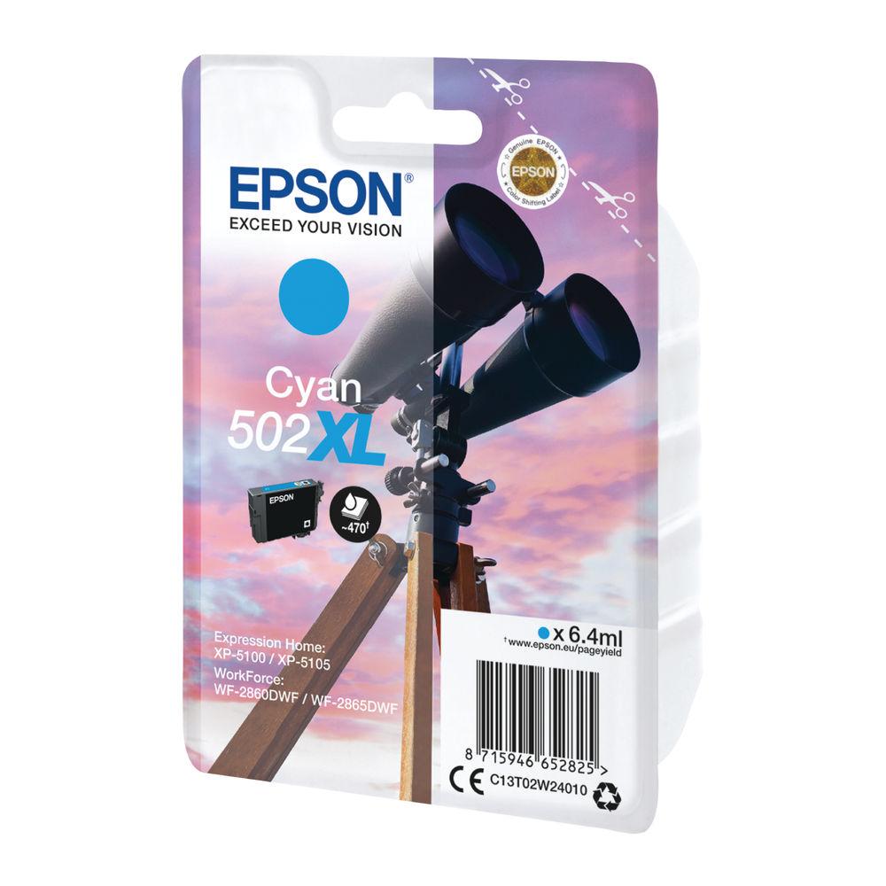 Epson 502XL Ink Cyan Cartridge Original