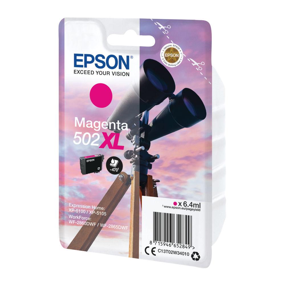 Epson 502XL Magenta Ink Cartridge Original