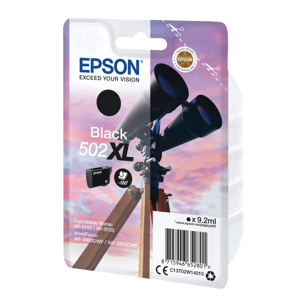 Epson Single pack 502XL Ink Black C13T02W14010