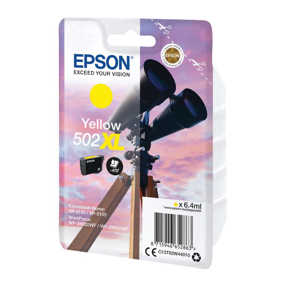Epson 502XL Yellow Ink Cartridge Cartridge