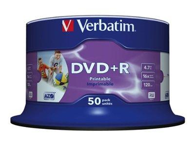 Verbatim DVD Plus R 16 x 50 pack Printable