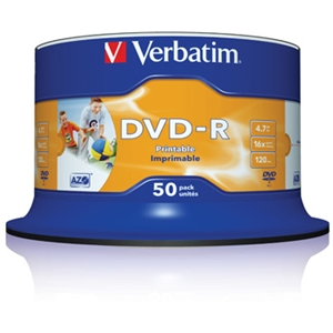 Verbatim 50 Pack DVD Printable DVD-R