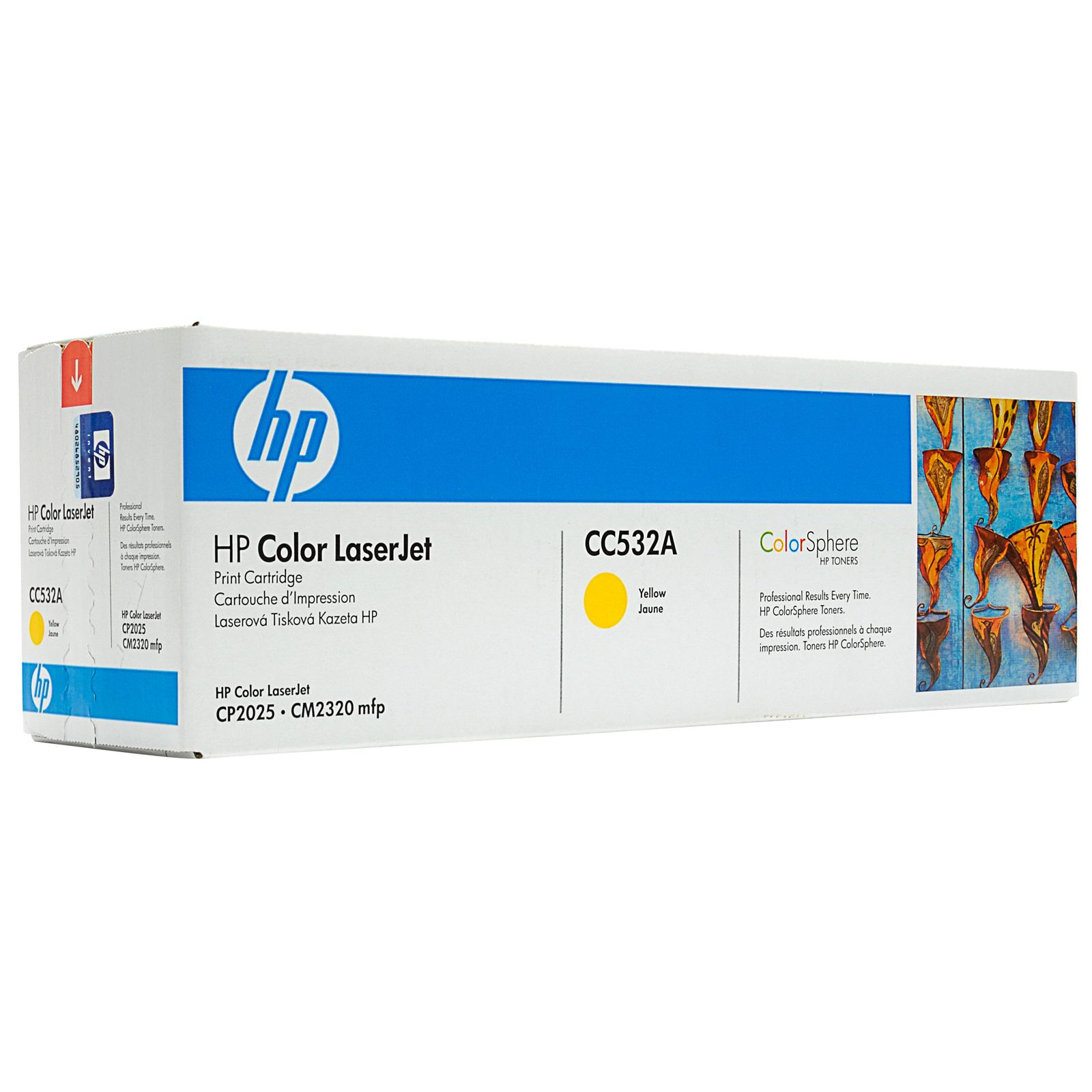 HP CC532A Yellow Toner Original - HP 532 Yellow Toner